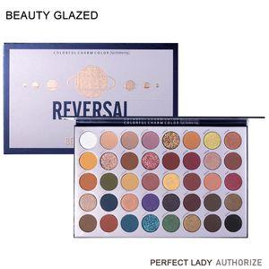 BEAUTY GLAZED 40 Colors Reversal Planet Glitter Matte Eyeshadow Palette Makeup Glitter Pigment Smoky Eyeshadow Palette Cosmetics