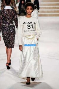 femmes haut de gamme filles pull en tricot motif lettre de forage à chaud tee blouse col ras du cou à manches longues 2020 fashion design chasuble chemise de luxe