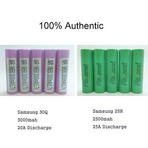 Authentic 3000mah Samsung 30Q 18650 Rechargeable Battery IN STOCK - 20A High Drain Discharge For Electronic Cigarette Box Mod
