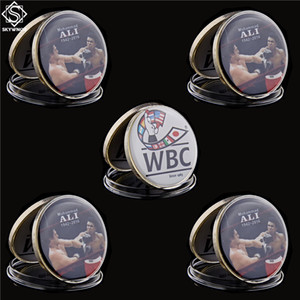 Free Shipping 5pcs Rare Muhammad Ali Proof Coin Mint Condition WBC Boxing Token Coin Collectibles