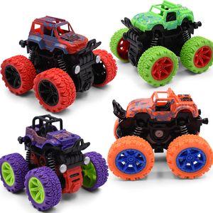 Mini Inertial Off-Road Vehicle Pullback Children Model Toy Car Plastic Friction Stunt Car Juguetes Carro kids toys for boys