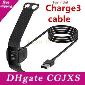 Para Fiitbit Charge3 Carga 3 Carregador USB cabo de carregamento 1m 3 pés 55 centímetros Preto Smart Banda pulseira relógio Accessorires