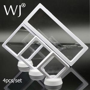 PET Elastik Membran Kolye Küpe Yüzük Charm Bileklik Jade İnci Takı Seti Görüntü Vitrin İzle Standı Tutucu 4pcs / MX200810 set
