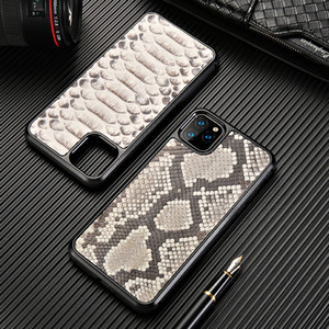 Luxury Genuine Python Pattern Leather Phone Case for IPhone 11 11Pro MAX 6S 7 8 Plus X XR XS MAX Snakeskin Cover Case for 12 11 ProMAX