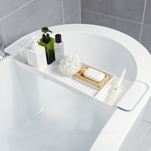Désinfectant pour les mains Porte-rétractable Drainante bain rack de bain en plastique bain bassin de stockage en rack de stockage multi-fonction rack