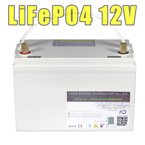 12V 100AH ​​LiFePO4 200AH IP68 stockage étanche Batterie rechargeable 12.8V lampe solaire LED 12v lifepo4