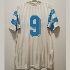 Pre-Venta camiseta retro Olympique de Marsella 1990-1991 fútbol jerseys Papin Boli Cantona Waddle Pelé Kit clásico de la vendimia