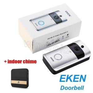 Original Eken Home Video Sonnette sans fil 2 720p Hd Wifi réel -Temps Vidéo Audio Bidirectionnel Night Vision Pir mouvement avec prise -Dans Chime intérieur