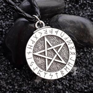 Pentagrama colar vintage Colar religiosa judaica Escudo Estrela de David Jóias melhores amigos colar do encanto