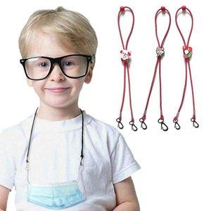 Christmas Children Mask Lanyard Cartoon Extension Hanging Rope Anti Lost Anti Drop Mask Holder Kids Neck Lanyard DDA589