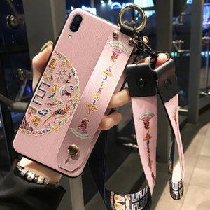 Versión vivo X23 cáscara del teléfono móvil Mujer vivo X27 Auspicioso Correa para la muñeca china de estilo X23 X21i magia de silicona