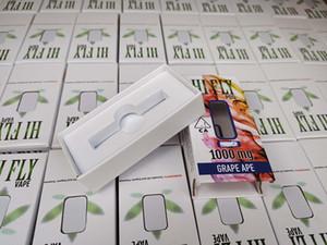vente chaude USA HI FLY Pod Vider la cartouche Vape avec des chariots cartouche céramique de plein 0.8ml HIFLY avec 10 autocollants différents