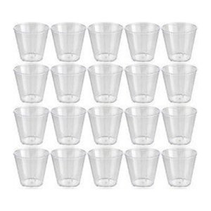 20pcs 30ml Clear Environmental Disposable Party Shot Wine Cups Jelly Cups Tumblers Birthday Bar