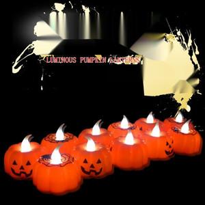 Хэллоуин светящихся тыкв подарок Декоративных ткани свет Luminous ночь света сцена макет украшения призрак фестиваль маленького призрак лампа мини развлечения