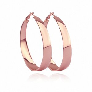 Mainlead New Rose Gold Big Circle Hoop Earring For Women Hiphop Round Female Earrings Brincos Party Jewelry Gifts pAj0#