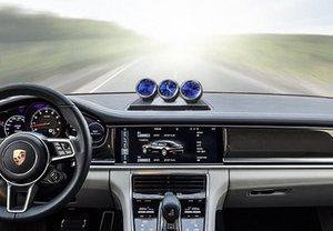 Car Ornament Automobile Orologio automatico Interni Guarda il termometro igrometro decorazioni Dashboard Decor Accessori Regali Sqvb #