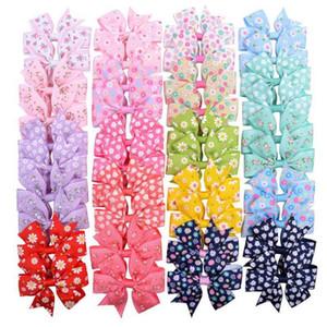 2020 Baby Girls Barrettes Floral Kids Hair Clips Flower Newborn Hairpins Boutique Bow Headwear Daisy Hair Accessories 20 Designs