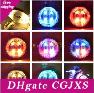 100шт (50 пар) Мода Luminous светодиодных шнурки Электронной Операция вспышка светодиодная подсветка для ночного Спорта Дискотека Glow Шнурков