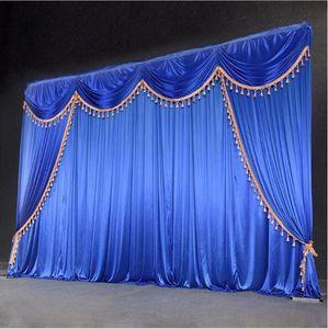 cortina sfondo di nozze paillettes Offerta Speciale 10ftx10ft con / decorazione di cerimonia nuziale sipario di seta romantica di ghiaccio refurtiva fondale