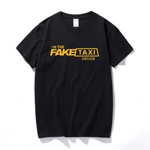 VHORZ cool Hommes T-shirt Fausse Taxi Driver T-shirt régulier Lumière du soleil 100% coton Vêtements T-shirt des hommes de qualité supérieure