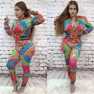 Apparel Womens Autumn Designer 2Pcs Tracksuits Crew Neck Hooded Long Pants Floral Print Fashion Luxury Casual