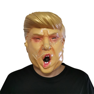 Il presidente degli Stati Uniti Mr.Donald Trump Lattice Maschera Maschere a pieno facciale del costume di modo del partito di Halloween Overhead maschera di teschio spaventoso Designer Mask D81706