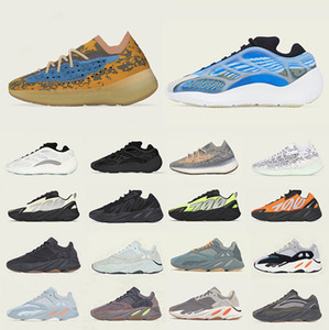 Stock X kanye Vanta West 700 Mens women running shoes Mauve Utility Black Salt Wave Runner Static 700s men sports Athletic Designer sneakers