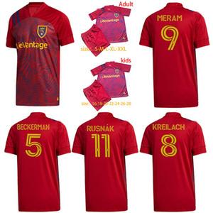 2020 2021 Kit ragazzo Real Salt Lakes maglia da calcio 20 21 Rusnak MERAM camicia di calcio Beckerman Kreilach Uomini Kids kit da football