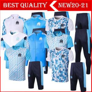 2020 2021 Marseilles THAUVIN short sleeve training suit 20 21 Marseille PAYET tracksuit short sleeve training suit pants tracksuit