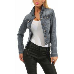 2020 Femmes Jean Vestes Fashion Coréen Streetwear Faded Wash Laver Jeans Jacket Dames Casual Denim Veste Bleu Noir