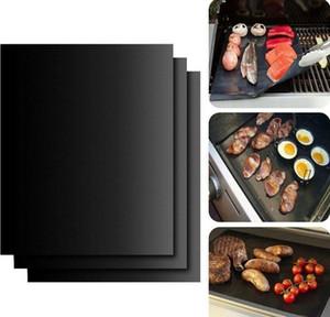 Antiaderente BBQ Grill Mat Teflon Cozinhar Folha grelhar piquenique preto assado reutilizável Não Vara BBQ Grill Mat de Resistência ao Calor Cozinha Ferramenta HWE773