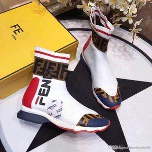 2020 Stivali da donna a maglia sexy del calzino Speed Trainer Casual Shoes sera del partito di alta Stivali Stivali stivali da lavoro piana con alta qualità