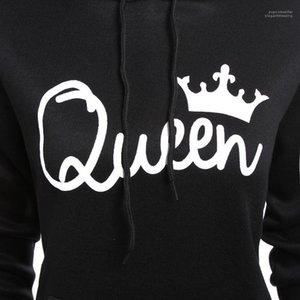Spring Autumn Fashion Sweatshirts Couples King Queen Hoodies Women Clothes Men Hoodies