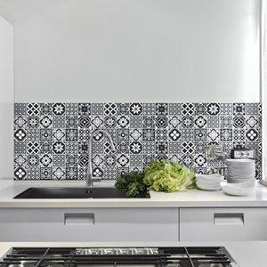 Кухня стена наклейка высокой температура Anti-масло Паста Кухня Обои Самоклеящейся Фольга Водонепроницаемой стена ванной плитка наклейка