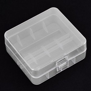 VBESTLIFE / Paquetes de soporte de la batería portátil estuche rígido de PP transparente caja de almacenaje durante 2 x 26650 baterías con gancho AOqx #