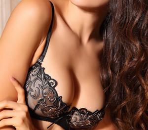 Lilymoda Women Sexy Hot Erotic Transparent Lingerie Ultrathin Bra Brief Set Lace Embroidery Seamless Panties Underwear Brassiere99