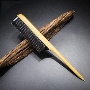 Uzun Ahşap Saç Tarak 10 adet / grup Sandal Ağacı Ox Boynuz Güzel Dişli Saç Bakım Styling Güzellik Makyaj Kadın Detangling Kıvırcık Saç Erkekler Sakal Bakım