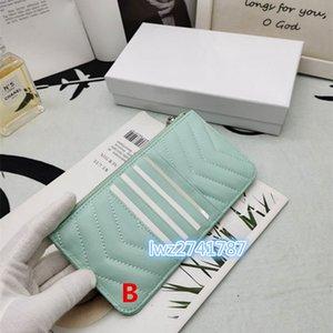 nouvelle arrivée avec la boîte réel porte-carte de crédit porte-monnaie sac de téléphone en cuir ID Card Case bourse Mode femmes d'affaires mini-portefeuille Sac de poche