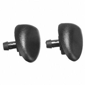 2pcs / set del parabrezza anteriore in plastica Wiper lavaspruzza Jet Nozzle sostituzione del parabrezza Per 407 206 y1QS #