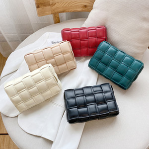 Lüks Çanta Kadınlar Çanta Tasarımcı Örgü Gerçek Gerçek Deri Omuz Çantası Kadınlar Messenger Çanta Mischpalette Dokuma Cüzdanlar ve Çantalar
