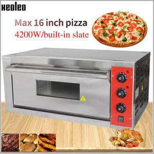 XEOLEO 16inch Pizza fırın makinası Ekmek Electric fırın pişirme Ticari Paslanmaz çelik Elektrik kayrak 4200W ile fırınlar