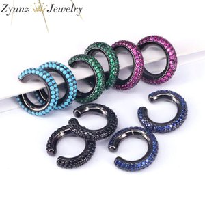 5Pairs, Fashion Ear Cuff Earring for Women Colorful Cubic Zirconia Clip Earring Stackable Cartilage Earring No Pierced