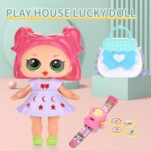 Play House Lucy Dolls Set Light Sound Watch Accessories Educational Girls DIY Creative Princess Doll Toys Birthday Gift
