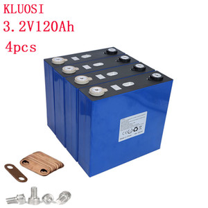 4PCS 3.2V 120Ah Battery LiFePO4 Lithium Iron Phospha Large Capacity 120000mAh for Motorcycle Electric Car Motor Batteries