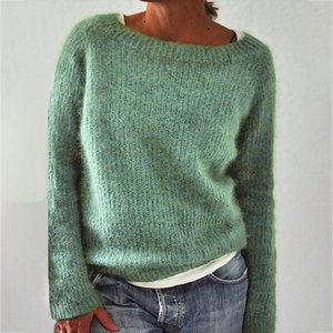 New Women Sweater Autumn Winter Clothes Solid O Neck Sweater Jumper Long sleeved Knitted Pullovers Shirt Female Tops