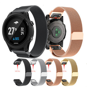 Hot Quick Release Easy Fit Métal Montre en acier inoxydable Sangle de pour Garmin Fenix ​​6S 6X 6 Pro 3 HR 5 / 5X / 5S Plus / Forerunner 935
