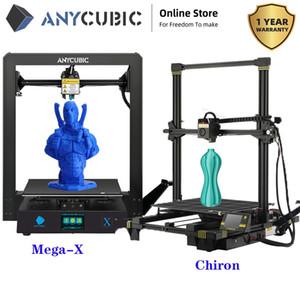 Anycubic 3D ميجا-X الطابعة / تشيرون FDM حدات تصميم كبير الحجم طباعة 1.75mm مرنة / PLA الشعيرة I3 ميجا DIY طابعة 3D