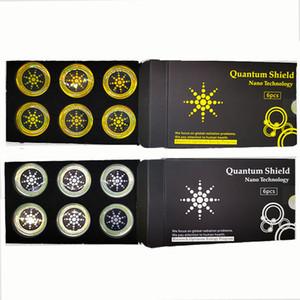 Quantum Shield 스티커 핸드폰 방사선 핸드폰 보호를위한 휴대 전화 안티 방사선 가젯 6pcs / 세트