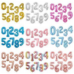 Numara Balonlar 40 İnç Helyum Balon Alüminyum Folyo Balonlar Numarası Doğdun Balon Düğün Parti Süsleri OWC1193