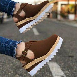 New Women Sandals Plus Size Shoes For Women High Heels Sandals Summer Shoes Flip Flop Chaussures Femme Platform Slippers